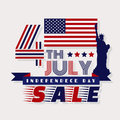 Sale. Independence day design over white background, vector illu