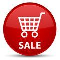 Sale special red round button Royalty Free Stock Photo