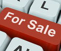 For sale key means available to buy or on offer keyboard meaning purchasable Royalty Free Stock Image