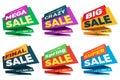 Sale label price tag banner badge template sticker design.