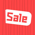 Sale label with red stripes