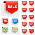 Sale labels Royalty Free Stock Images