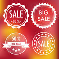 Sale labels set of four white flat Royalty Free Stock Photos