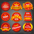 Sale labels set of luxury vector Royalty Free Stock Photo