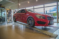 For sale mercedes benz cla class the car is in halden auto as which is a car dealership that sells peugeot and located in berg Royalty Free Stock Photo