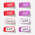 Sale and new labels Royalty Free Stock Photo