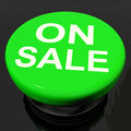 Sale Now Button Shows Promotional Savings Or Discounts Stock Photography