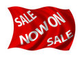 Sale Now on Flag Royalty Free Stock Image