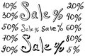 Sale, numbers and percentages Stock Photography