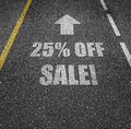 Sale with 25% off