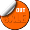 Sale out decal Stock Photography