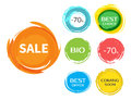 Sale paint drops set Royalty Free Stock Photo