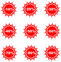 Sale percent button web glossy icon Royalty Free Stock Image