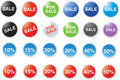 Sale and percentage labels Stock Images