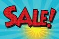 Sale pop art retro comic book lettering