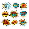 Sale pop art set