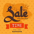 Sale poster in orange and brown colors Stock Photo