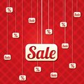 Sale poster with percent discount vector abstract background shopping modern icons Royalty Free Stock Photos
