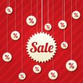 Sale poster with percent discount vector abstract background shopping modern icons Stock Photo