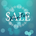 Sale poster winter abstract design with bokeh christmas background Royalty Free Stock Photos