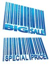 Sale price barcode set Stock Images