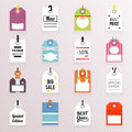 Sale Price Labels Icons Set Text Tag Symbol Template Vector Illustration