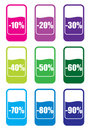 Sale price tags Stock Photography