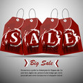 Sale price tags vector or discount tag with list Royalty Free Stock Photo