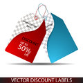 Sale price tags vector or discount tag with list Stock Photo