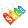 Sale price tags word on illustration Stock Photography