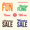 Sale Promo Elements Royalty Free Stock Photo