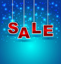 Sale promotion background on blue magical Royalty Free Stock Images