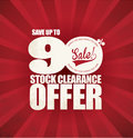 Sale promotion poster stock clearance Stock Photos