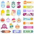 Sale and promotion tag vector illustration of set of colorful Royalty Free Stock Photography