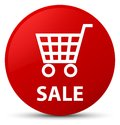 Sale red round button Royalty Free Stock Photo