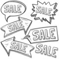 Sale retail tags and labels Royalty Free Stock Photos