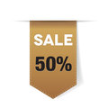Sale ribbon - label Stock Photos