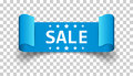 Sale ribbon vector icon. Discount, sold sticker label on isolate Royalty Free Stock Photo