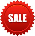 Sale seal stamp badge red Royalty Free Stock Photo