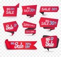 Sale shop product tag, label or sale poster, realistic paper discount banner Royalty Free Stock Photo
