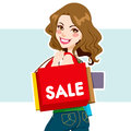 Sale Shopper Woman Royalty Free Stock Images