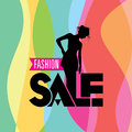 Sale shopping background and label