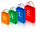 Sale shopping bags Royalty Free Stock Photos