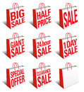 SALE Shopping Bags Icon - Carrier Bag Symbol Royalty Free Stock Photos