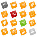 Sale and shopping icons - sticky series Royalty Free Stock Photo