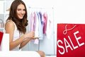 Sale at shopping mall Royalty Free Stock Image