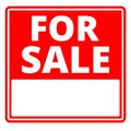 For sale sign with blank copy space Royalty Free Stock Photo