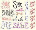 Sale Sign Doodles Royalty Free Stock Photography