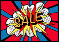 Sale sign pop art! Stock Photography