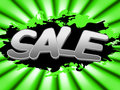 Sale sign shows discount advertisement and promotion meaning sales display Stock Image